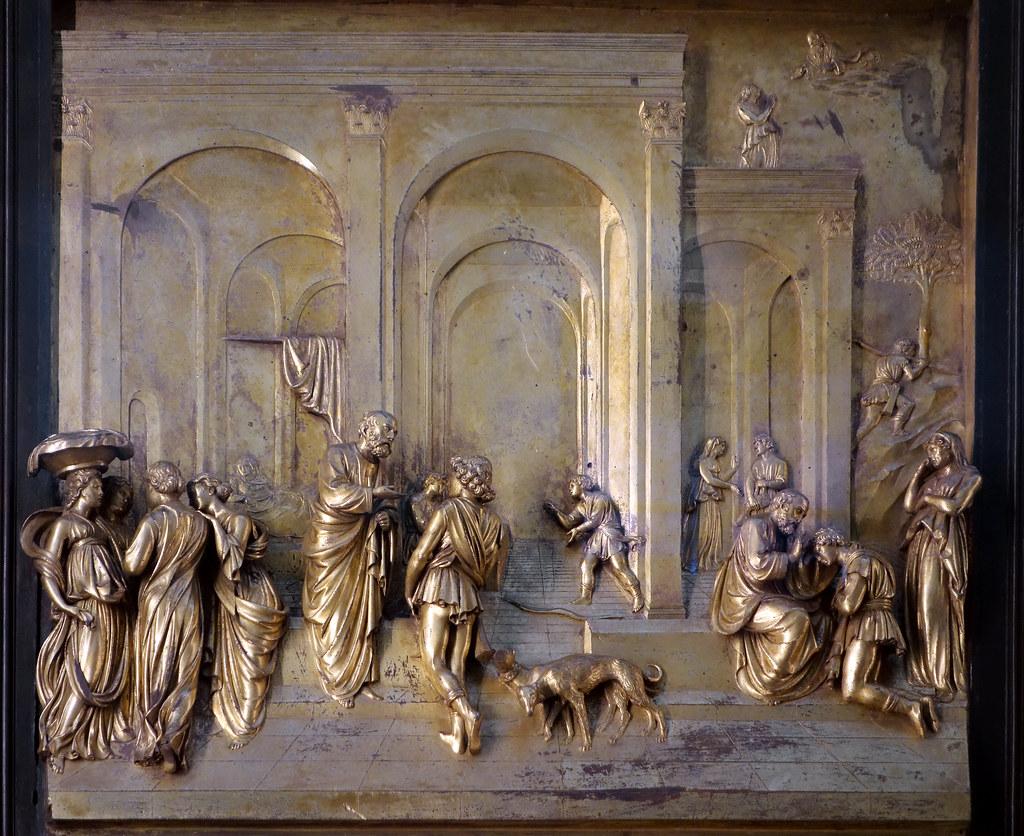 Ghiberti, Gates of Paradise, Jacob and Esau panel ...
