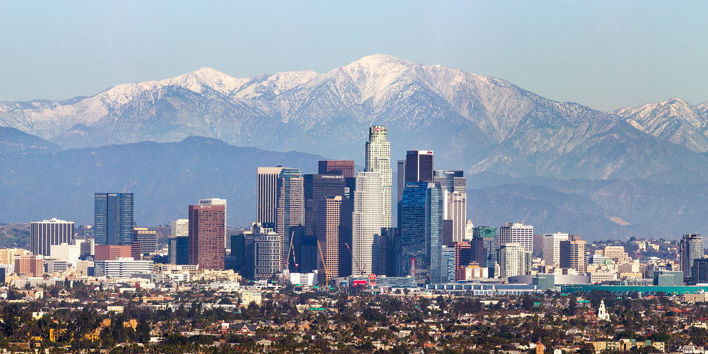 Los Angeles Mountains Pano A Rare Winter Storm Hit