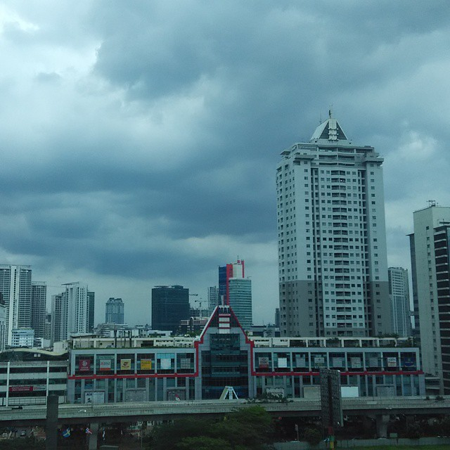 I will miss this view... #last #day #of #work #XL #Axiata #overcast #cloudy #weather #view #Jakarta #city #ambassador #mall #Kuningan #GrhaXL #Indonesia #afternoon #building #resign #thank #you #for #everything #see #you #soon #peoples #preach #photo