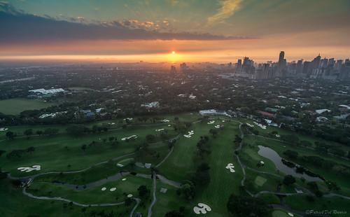 city sunset sky skyline clouds sunrise golf philippines golfcourse manila makati bonifacioglobalcity