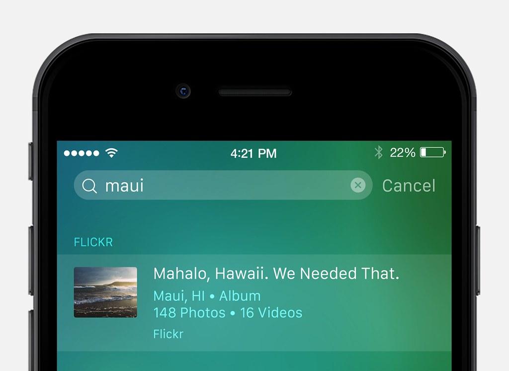 Flickr iOS 9 spotlight