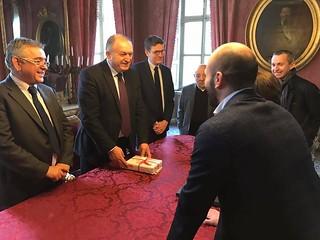 Casale Monferrato, 22/01/2017, Visita del Viceministro dell'Interno albanese Stefan Çipa presso il Municipio   by flavagno