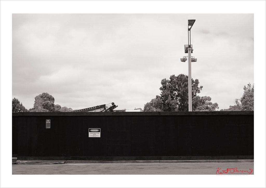 Blue Hoarding 'Construction Site' Eveleigh.