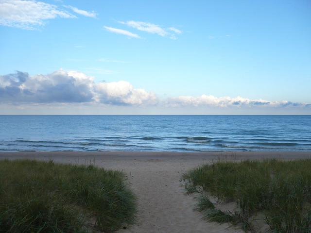 Lake Path to Lake Michigan