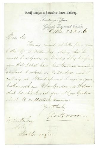 South Durham & Lancashire Union Railway letterhead 1860 | by ian.dinmore