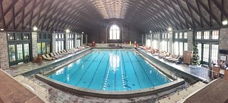 Panoramic view of the pool at Chateau Montebello. | by fishbowl_fish