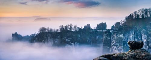 Bastei im Nebelmeer | by Philipp Zieger - www.philippzieger-photographie.de