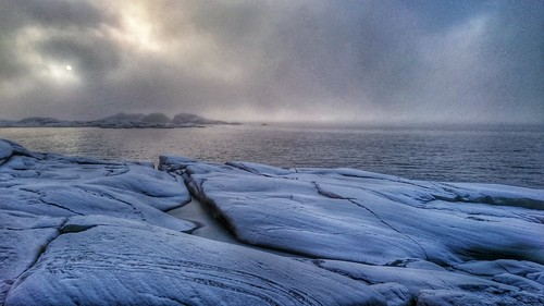 Fabulously misty walk with the kids down the fjord today.  It was more akin to the Arctic than southern Norway.   by c@rljones