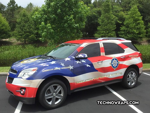American flag themed vehicle wrap by TechnoSigns in Orlando