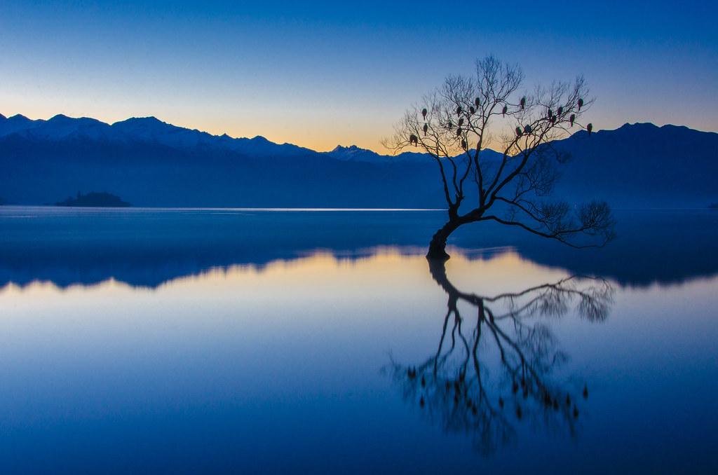 153 Lake Wanaka, blue hour