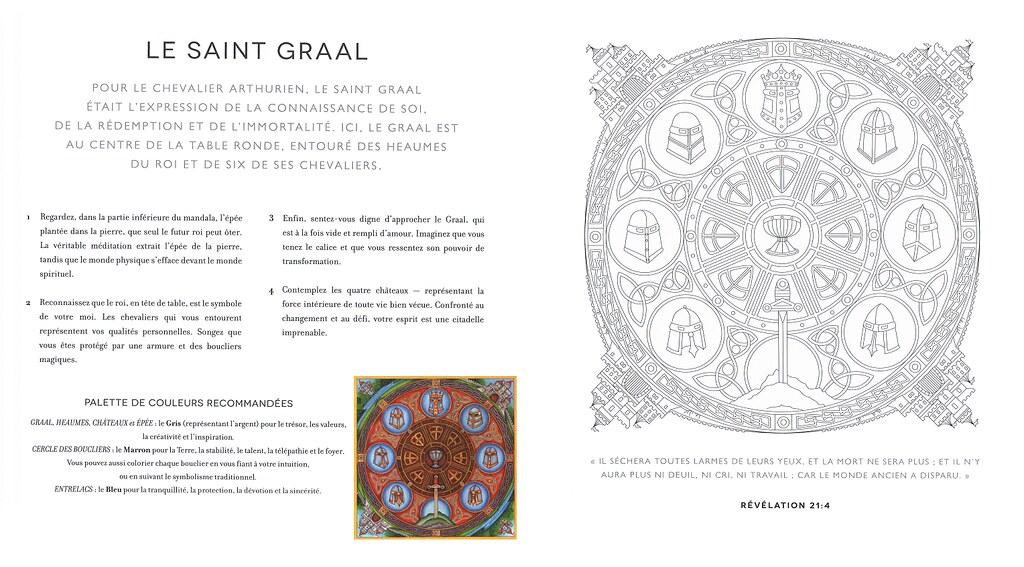 Celtic Mandala To Colour About The Quest Of The Grailgraa