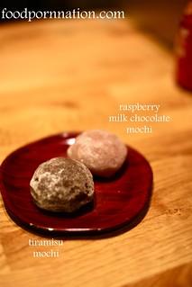 truffle mochi & raspberry milk chocolate mochi | by Priscilla @ Food Porn Nation