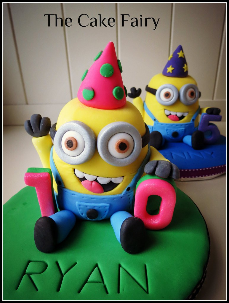 Super Fondant Minion Cake Topper Fondant Minion Cake Toppers By Flickr Personalised Birthday Cards Cominlily Jamesorg