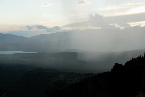 rain clouds delphi greece