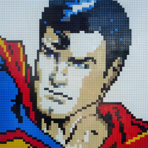 Oxford Brick Art - Superman