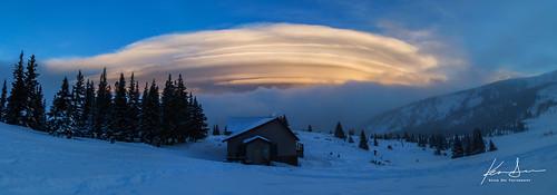 snow ski clouds cabin colorado grand powder lodge hut snowboard co backcountry berthoud lenticular broome berthoudpass grandcounty broomehut