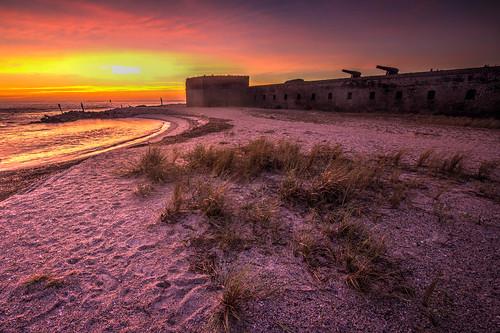sunrise florida civilwar atlanticocean hdr fernandinabeach cannons uniontroops fortclinchstatepark fivemillionbricks stmarysriverinlet