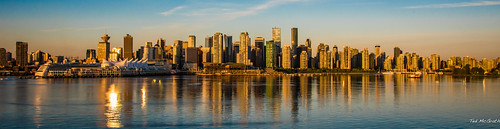 reflection vancouver sunrise nikon can cropped cbd vignetting canadaplace vancouverbc coalharbour sunreflection waterreflection 2016 vancouvercity tedmcgrath tedsphotos nikonfx nikond750