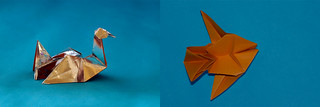 "Origami 2 in 1: ""On the water""  AND  ""Under water"" (Herman van Goubergen) 