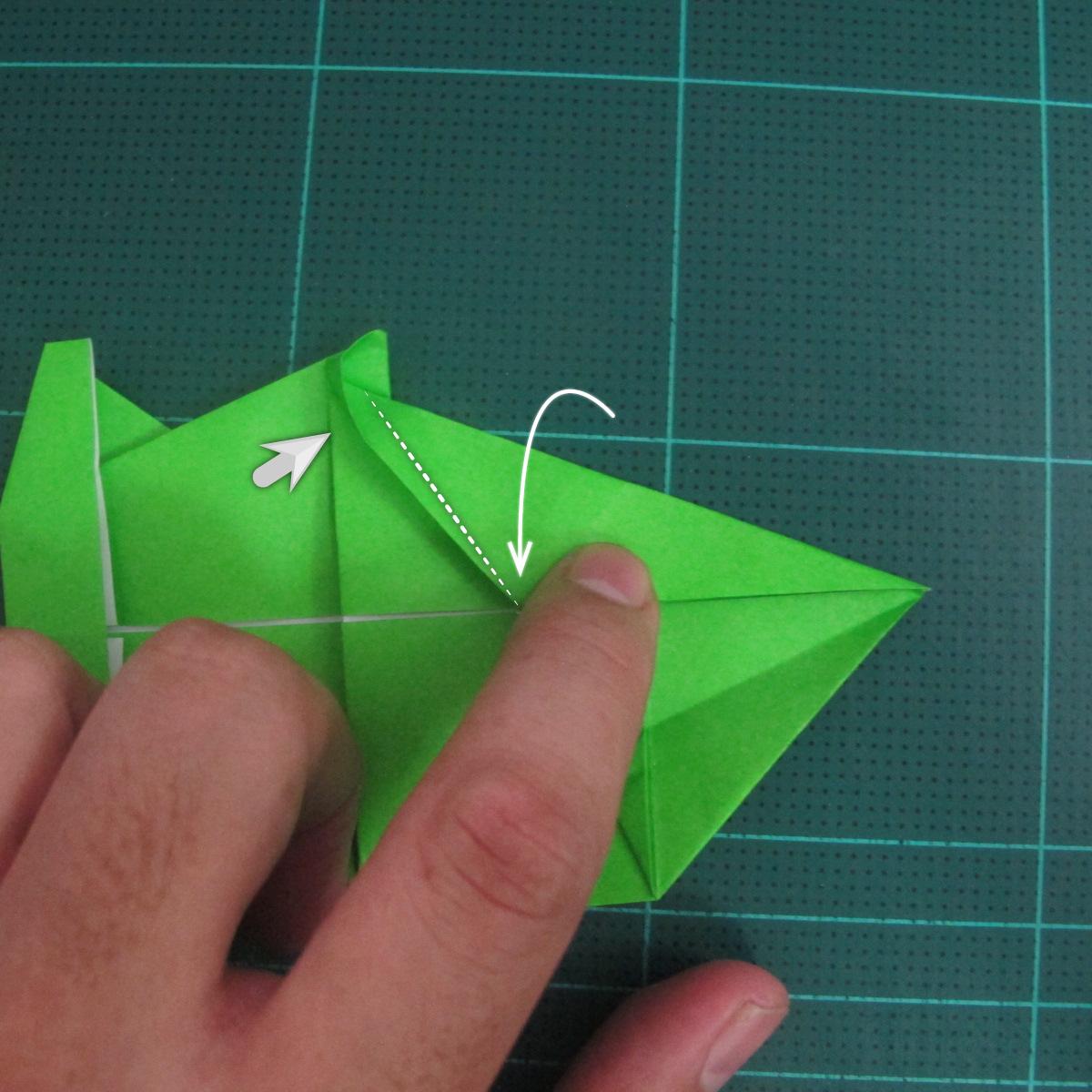 การพับกระดาษเป็นรูปแรด (Origami Rhino) 024