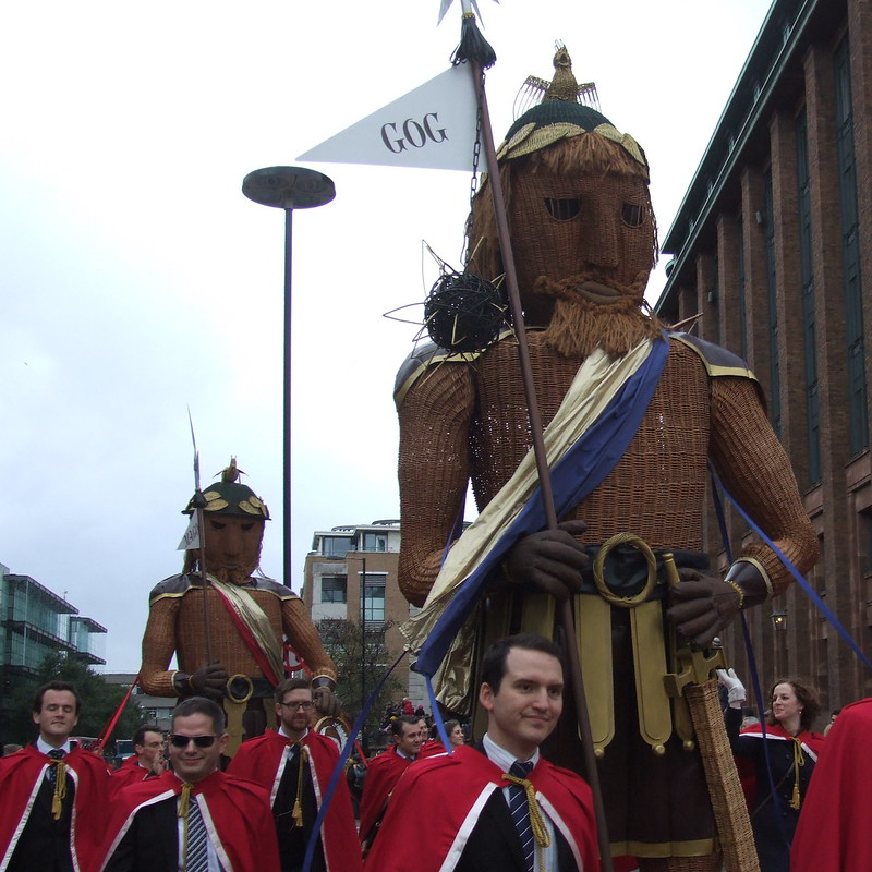 Gog and Magog - Lord Mayors Show 2014