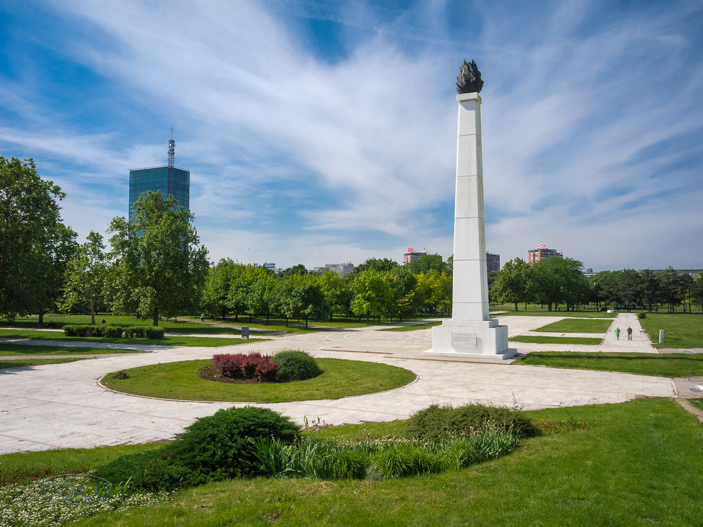 Spomenik Vecna Vatra Novi Beograd Slobodan Siridzanski Flickr
