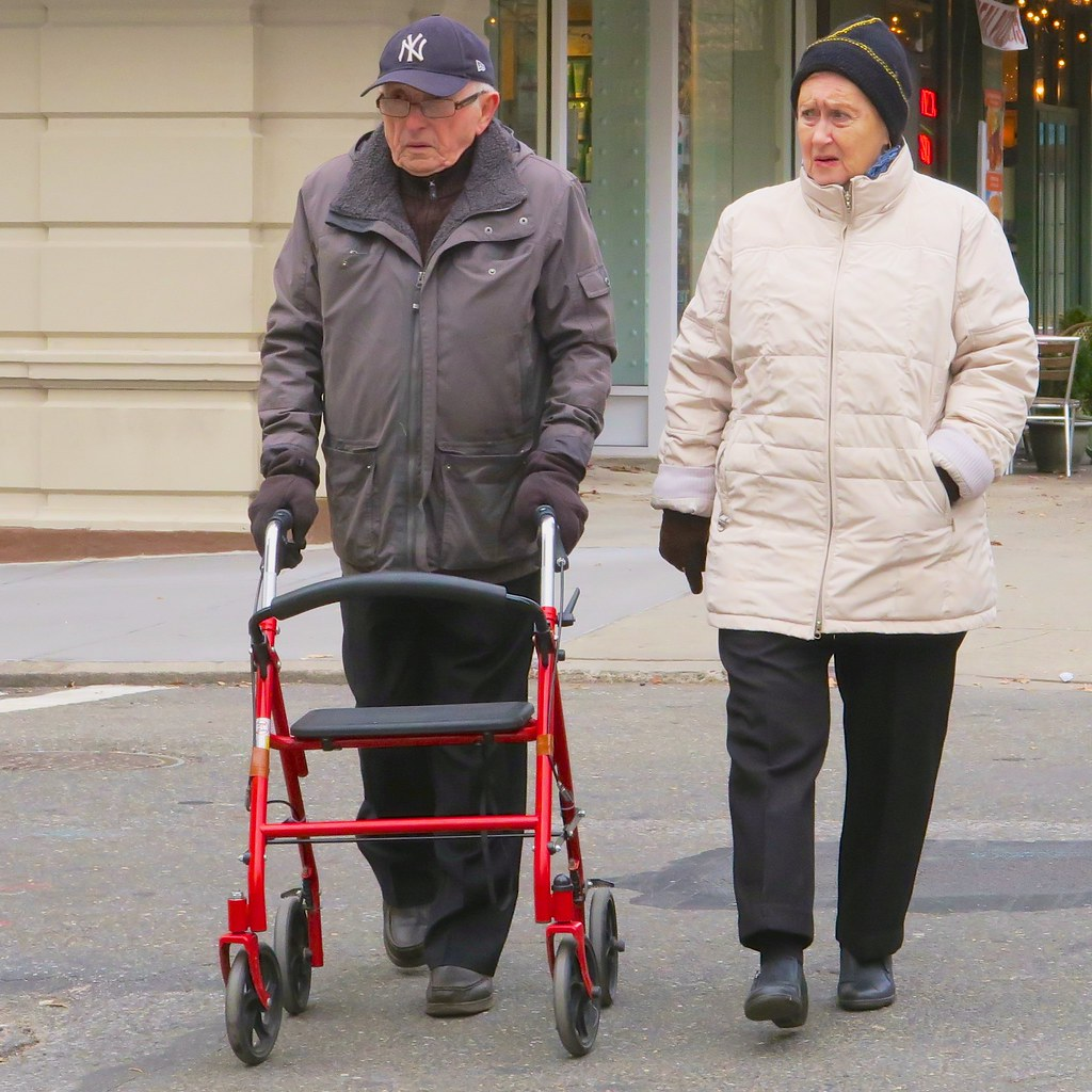 Old people aren't grumpy. They just look that way ...