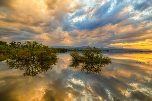 sunset sky lake storm nature water clouds reflections landscapes colorado colorful scenic stormy views rockymountains thunderstorms jamesinsogna