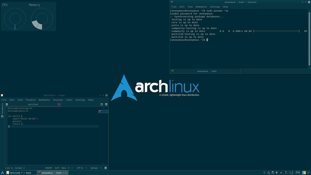 The Solarized Arch Desktop   OS : Arch Linux DE : KDE Plasma