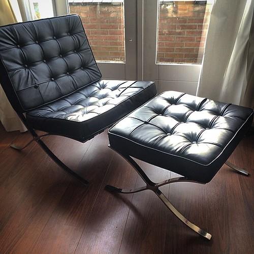 Beste vintage vondst yet: Barcelona chair repro!