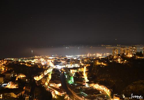 night lights nikon hometown fiume croatia rijeka nikond3100