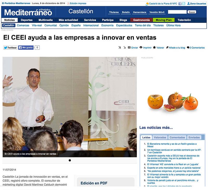2014-07-11-El-Mediterraneo---El-CEEI-ayuda-a-las-empresas-a-innovar-en-ventas-social-selling-David-Martinez-Calduch