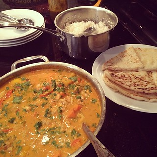 Chicken Mango Curry // Naan // Basmati // Happy New Year | by The Abundant Kitchen