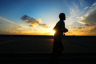 Sunrise jogger