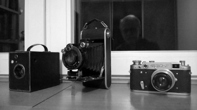 old cameras and ... a ghost