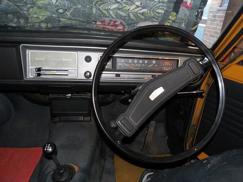 1973 Datsun 1200 (B110) dashboard | by Spottedlaurel