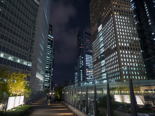 street travel bridge japan skyline night reflections tokyo cityscape nightscape olympus 日本 東京 夜景 minato shiodome em1 汐留 カレッタ汐留 carettashiodome 港區