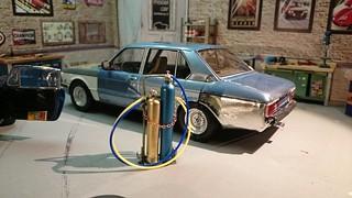 BMW 525 E12 rusty blue car   by www.MODELCARWORKSHOP.nl