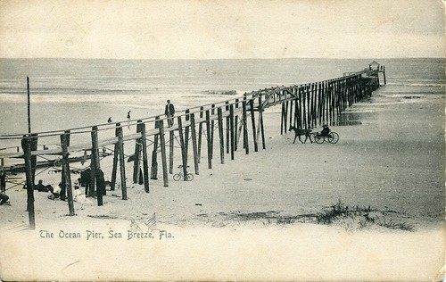 Ocean Pier in Sea Breeze, Fla.