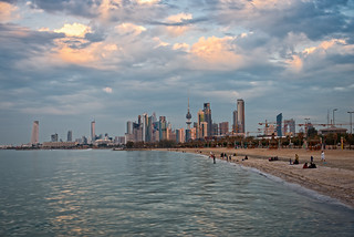 Shuwaikh beach with view of Kuwait City in the background | by CamelKW