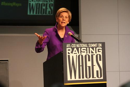 AFL-CIO Summit on Raising Wages, with Elizabeth Warren and Richard Trumka   by Ben Wikler