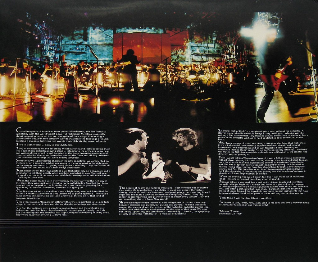 San Francisco Symphony Calendar.Metallica S M With Michael Kamen And San Francisco Symphon Flickr