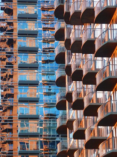 atlanta windows sunset abstract reflection glass architecture ga downtown atl balcony repetition balconies twelvecondos