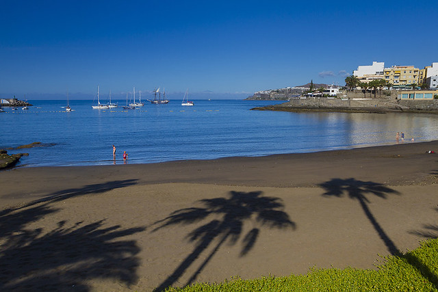 Arguineguin Beach Strand Playa in Mogan, Gran Canaria
