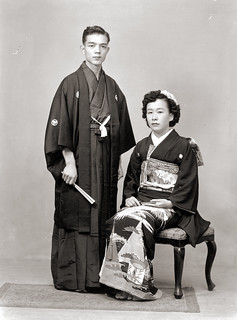 Man & Woman in Kimono, Old Japan | by Vintage Japan-esque