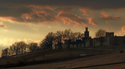 school sunset sky nature landscape pennsylvania hill pa hershey miltonhersheyschool catherineshall