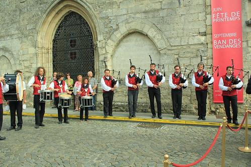 圖01.Saint-Emilion酒節相關活動有極為傳統的表演