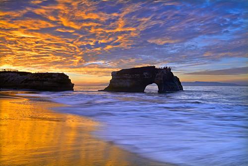 ocean california light sky santacruz seascape color clouds sunrise landscape nikon arch pacific tide explore naturalbridgesstatebeach explored captureone singhray