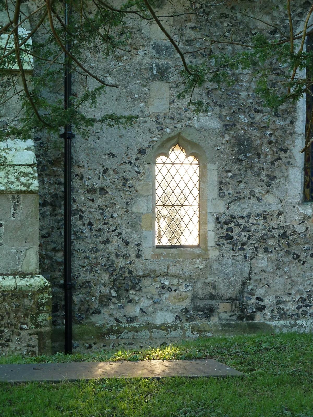 Berwick to Birling Gap Light through Wilmington church window