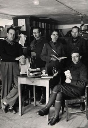 Grupo de oficiales franceses en Colditz